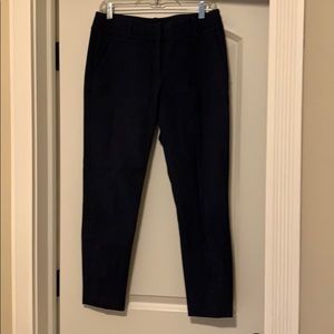 Navy ankle cropped pant